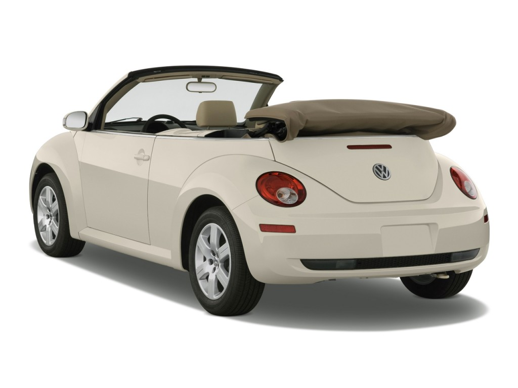 Volkswagen New Beetle Convertible Door Auto Angular Rear Exterior View L