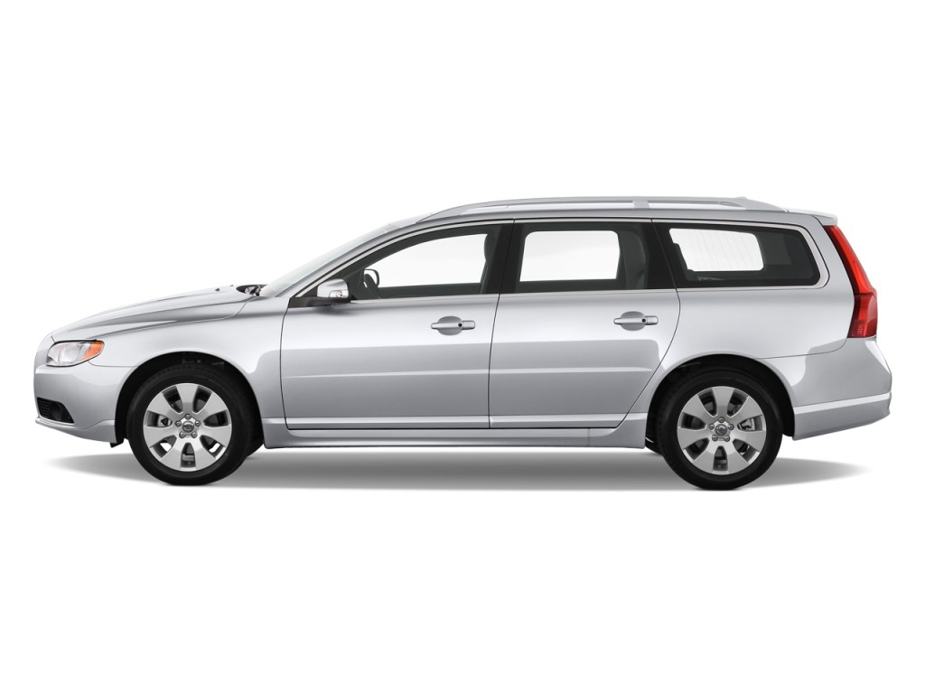 2010 volvo v70 4 door wagon side exterior view