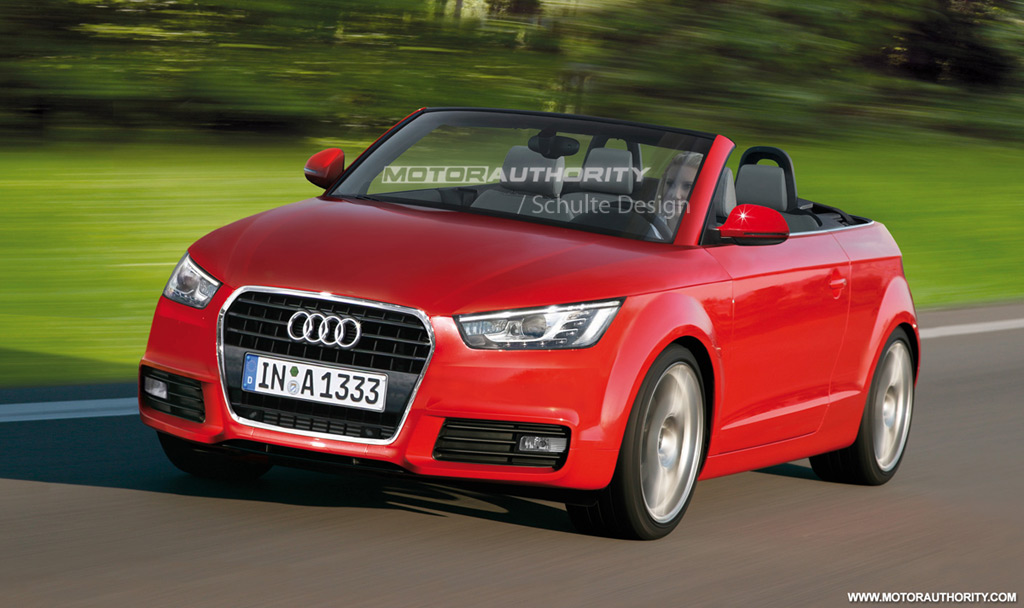 rendered 2011 audi a1 convertible. Black Bedroom Furniture Sets. Home Design Ideas