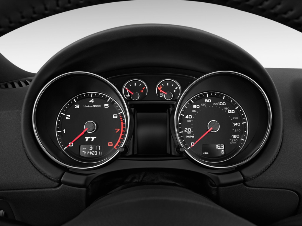 image 2011 audi tt 2 door coupe s tronic quattro 2 0t premium plus instrument cluster size. Black Bedroom Furniture Sets. Home Design Ideas
