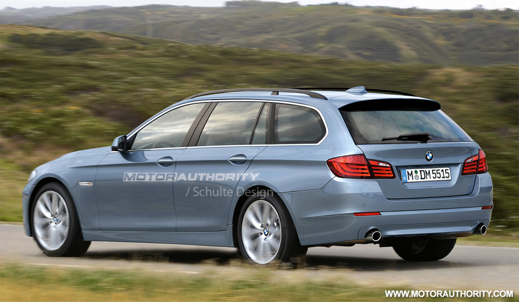 Image: 2011 BMW 5-Series Touring rendering, size: 1024 x 596, type ...