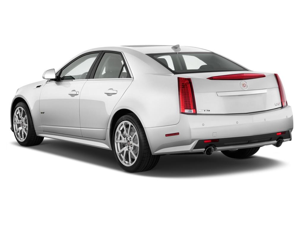 Image: 2011 Cadillac CTS-V Sedan 4-door Sedan Angular Rear ...