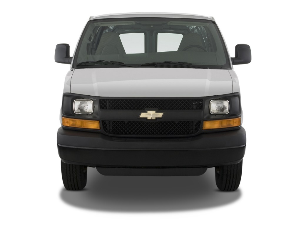 "Image: 2011 Chevrolet Express Cargo Van RWD 2500 135"" Front Exterior View, size: 1024 x 768 ..."