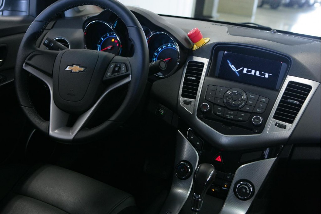 Image: 2011 Chevrolet Volt mule - Cruze interior with test-car kill switch, size: 1024 x 682 ...