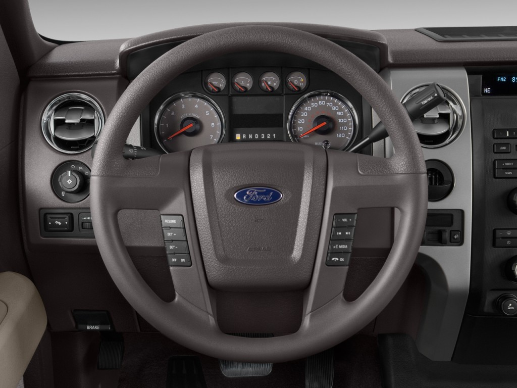 """Ford Escape 2Wd >> Image: 2011 Ford F-150 2WD SuperCrew 145"""" XLT Steering ..."""