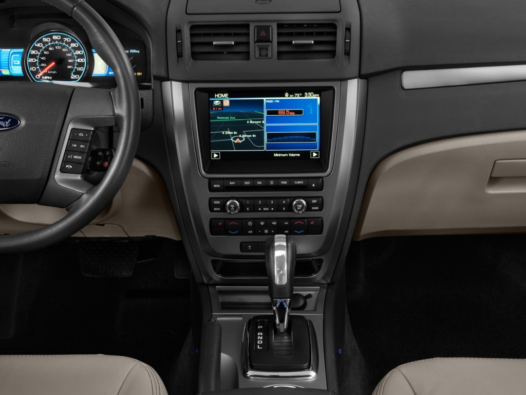 Image: 2011 Ford Fusion 4-door Sedan Hybrid FWD Instrument ...