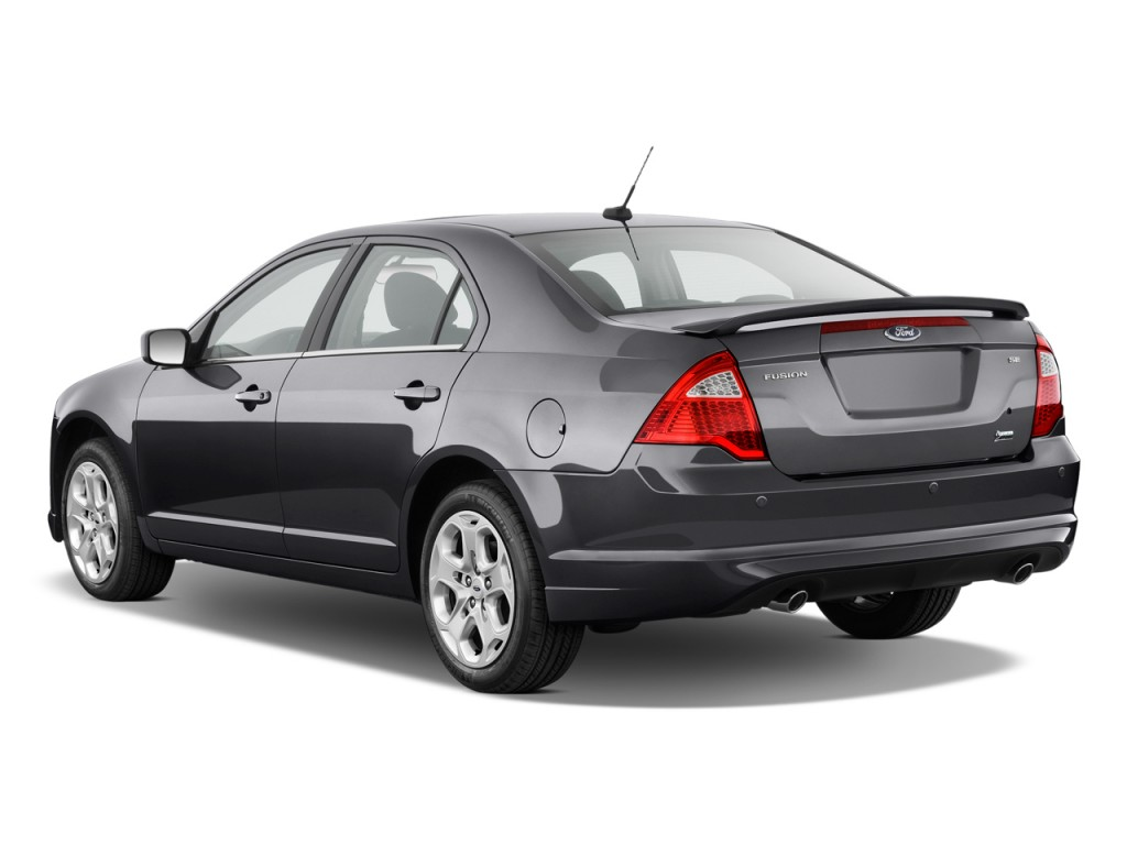 Image: 2011 Ford Fusion 4-door Sedan SE FWD Angular Rear Exterior View, size: 1024 x 768, type ...