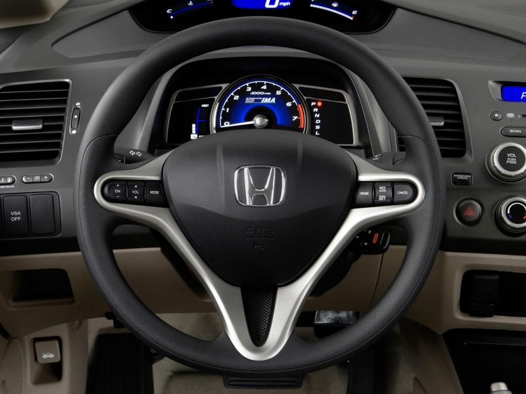 Image 2011 Honda Civic Hybrid Steering Wheel Size 1024