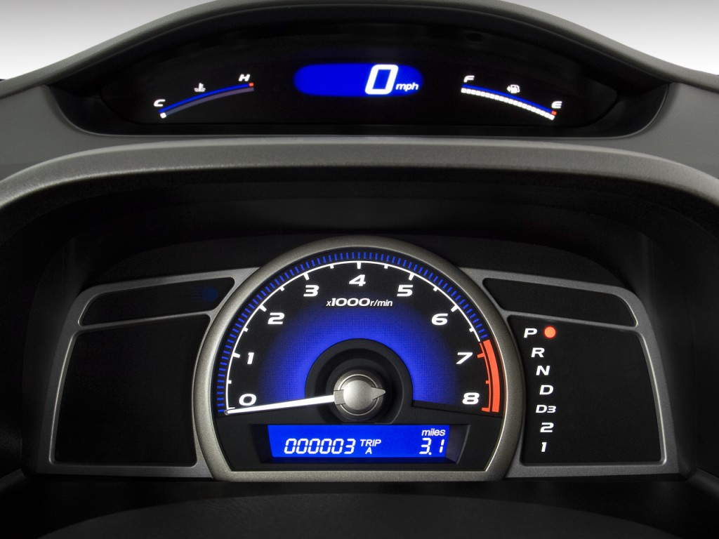 Image: 2011 Honda Civic Sedan 4-door Auto LX Instrument Cluster ...