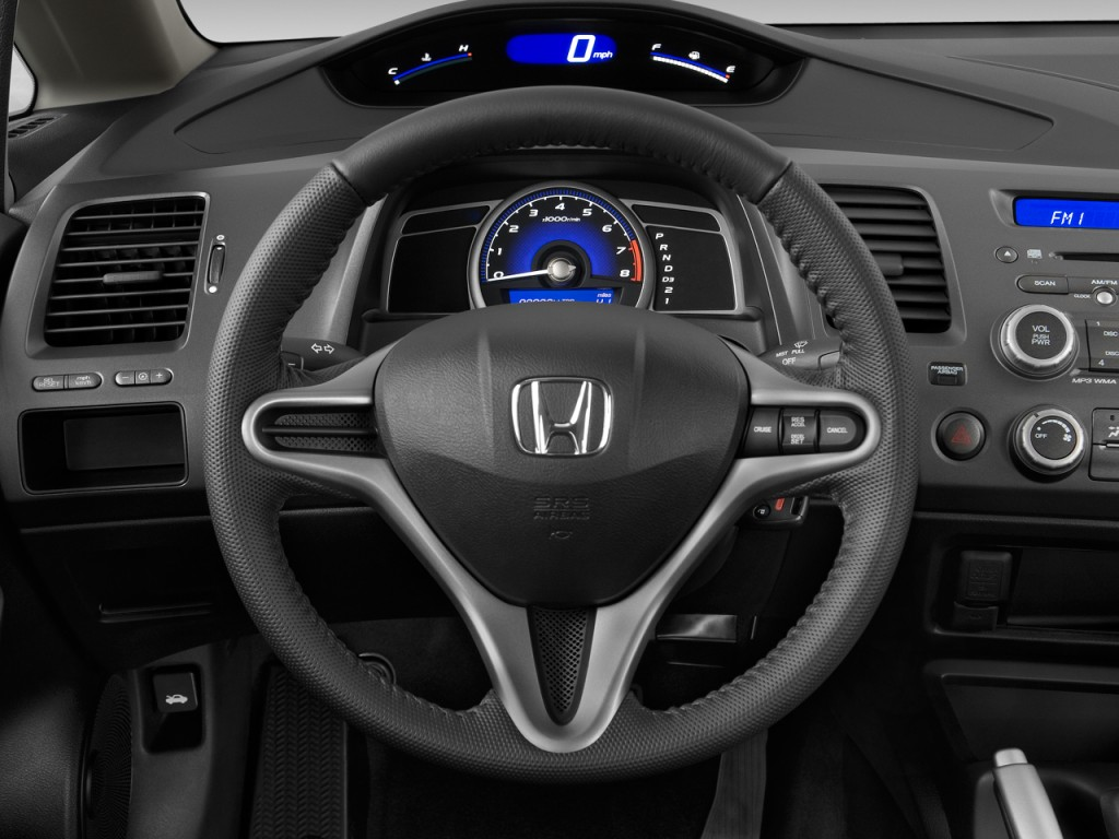 Image: 2011 Honda Civic Sedan 4 Door Auto Lx S Steering Wheel