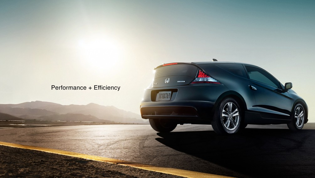 Screencap from digital brochure for Honda CR-Z