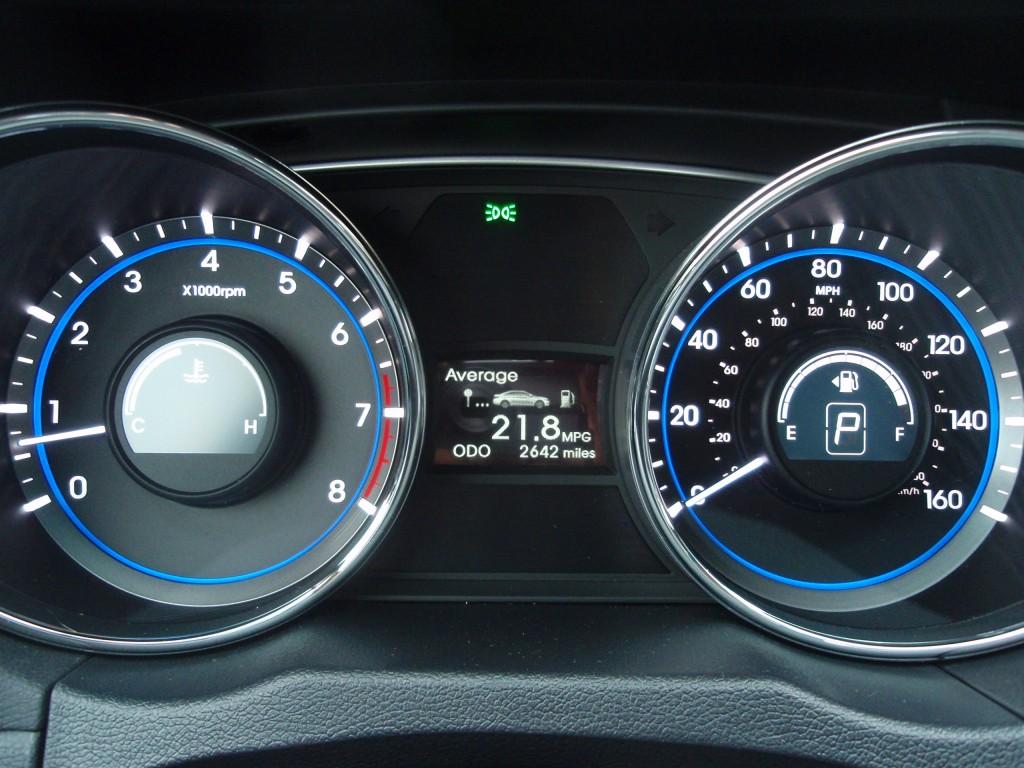 Image 2011 Hyundai Sonata Se 2 0t Gauges Size 1024 X