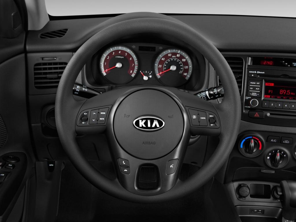 Image 2011 Kia Rio 5dr Hb Rio5 Sx Steering Wheel Size