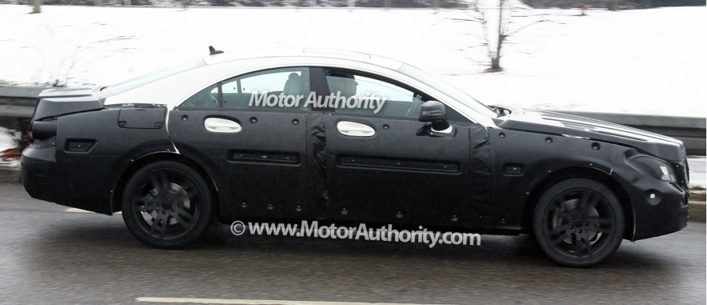 2011 mercedes benz cls prototype spy shots december 003
