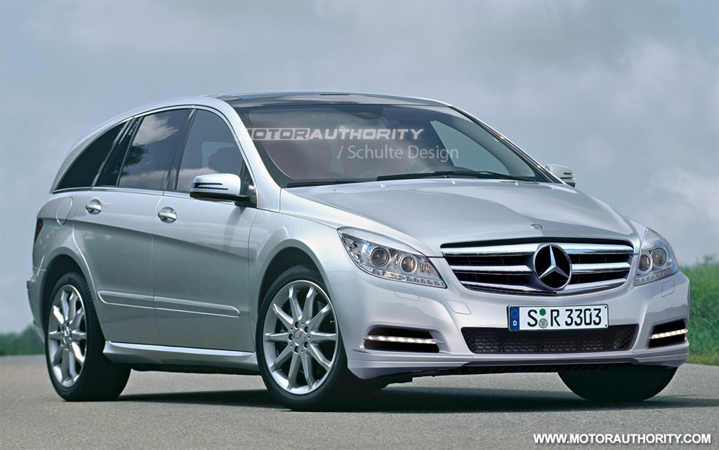Rendered 2011 mercedes benz r class facelift for R h mercedes benz