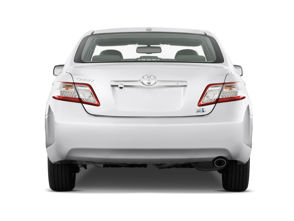 2018 Hyundai Accent Preview >> Image: 2011 Toyota Camry Hybrid 4-door Sedan (Natl) Rear Exterior View, size: 1024 x 768, type ...