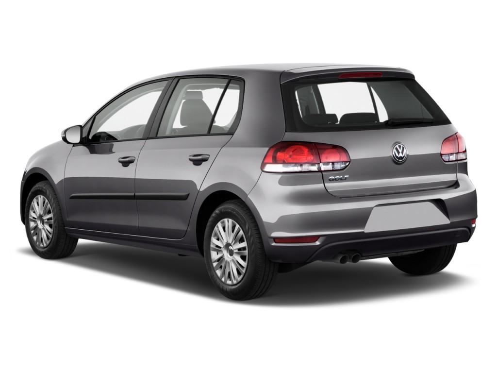 image  volkswagen golf  door hb auto angular rear exterior view size    type