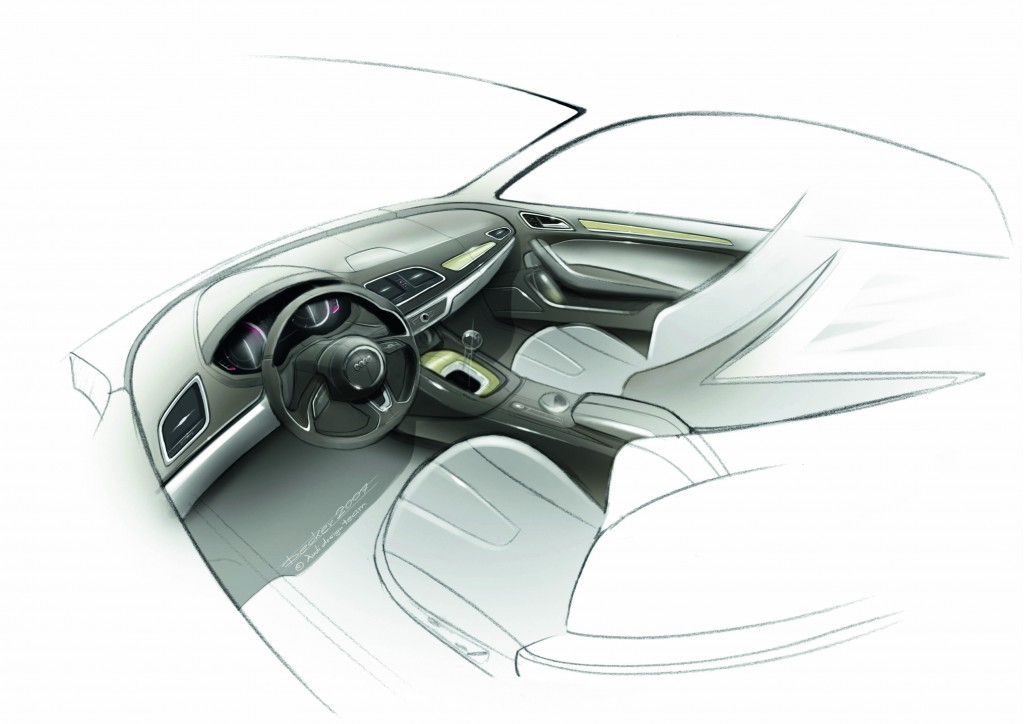 Image 2012 Audi Q3 Official Sketches Size 1024 X 724