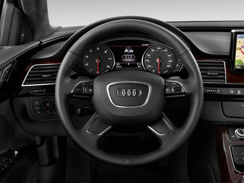 Image: 2012 Audi A8 L 4-door Sedan Steering Wheel, size ...