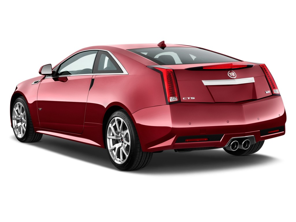 Image: 2012 Cadillac CTS-V Coupe 2-door Coupe Angular Rear Exterior
