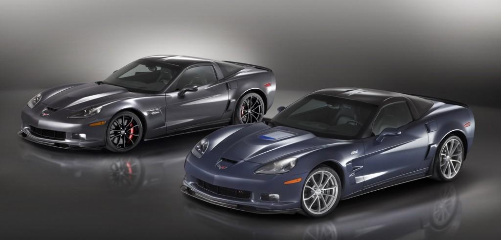 2012 Chevrolet Corvette Z06 (left) and Corvette ZR1