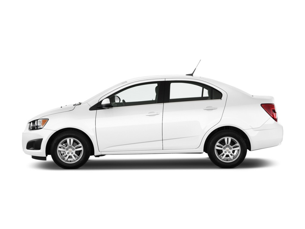 Image: 2012 Chevrolet Sonic 4-door Sedan 1LT Side Exterior ...