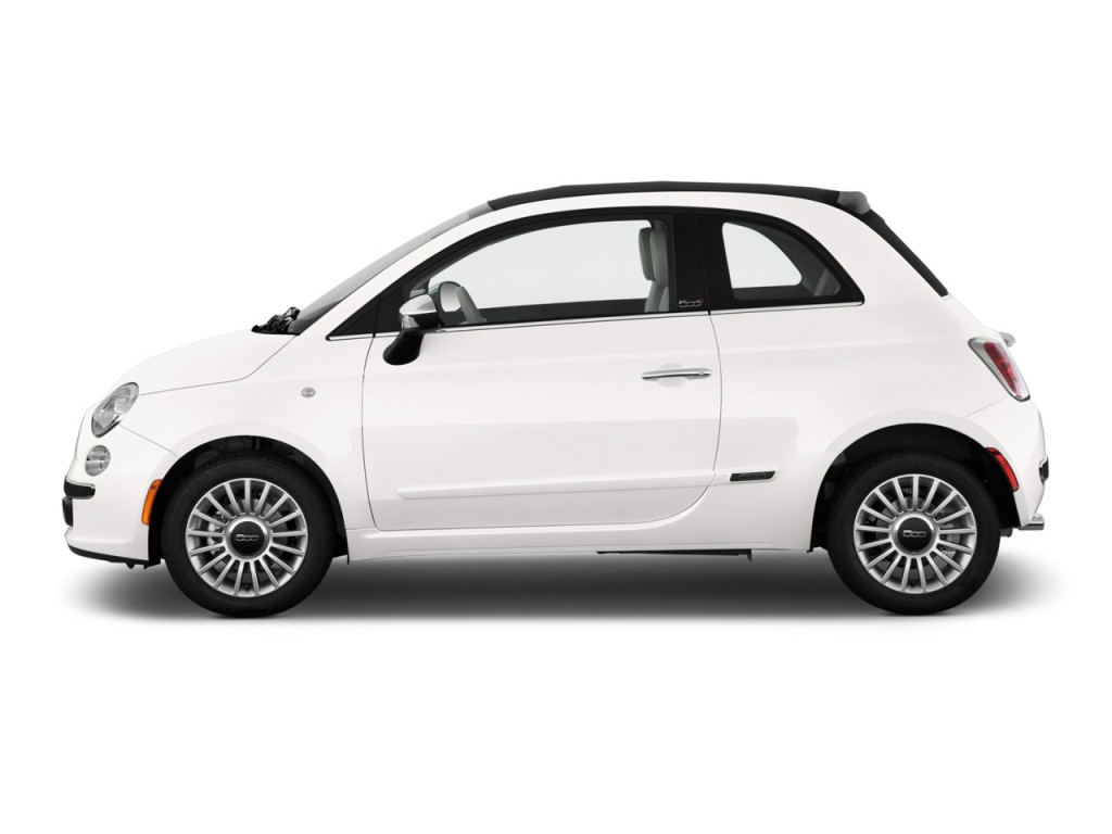 Image 2012 Fiat 500 2 Door Convertible Lounge Side