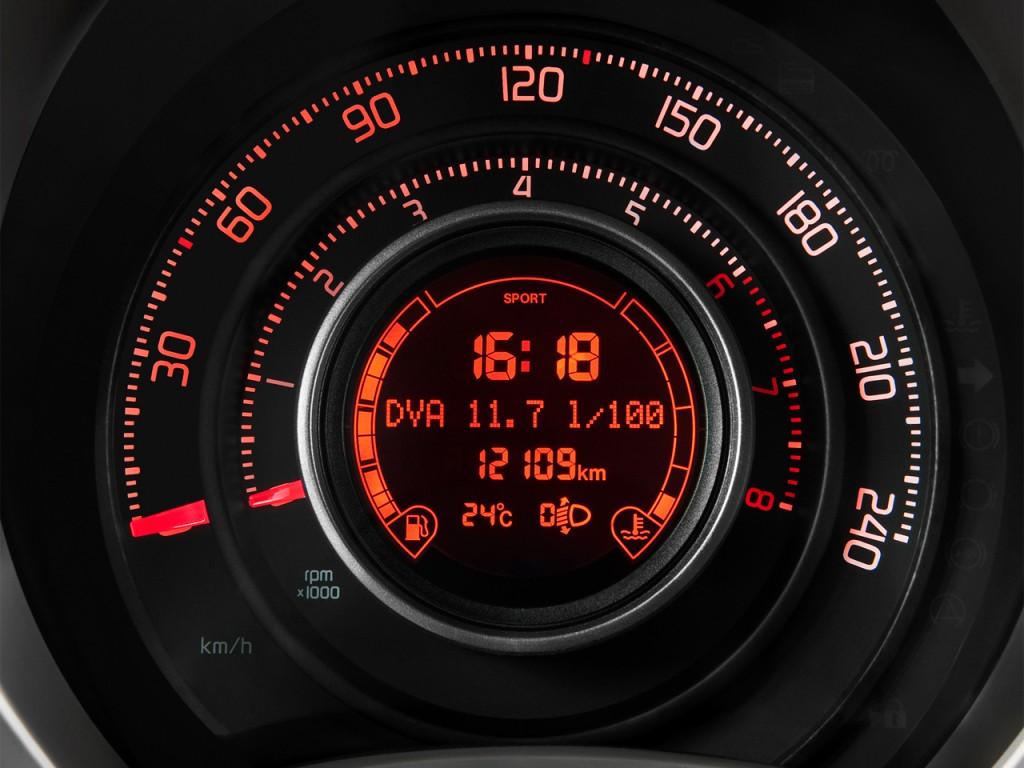 Image 2012 Fiat 500 2 Door Hb Abarth Instrument Cluster