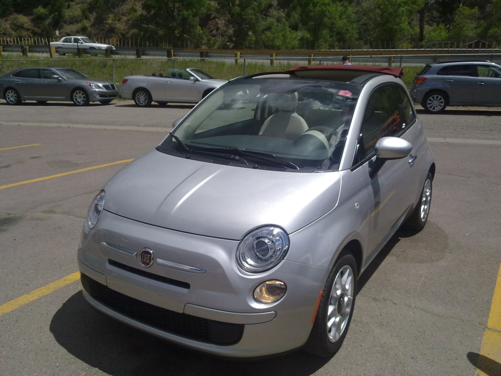 2012 Fiat 500C at over 8,000 Feet in the Rocky Mountains