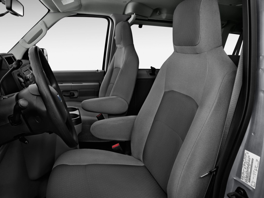 Image: 2012 Ford Econoline Wagon E-150 XLT Front Seats ...