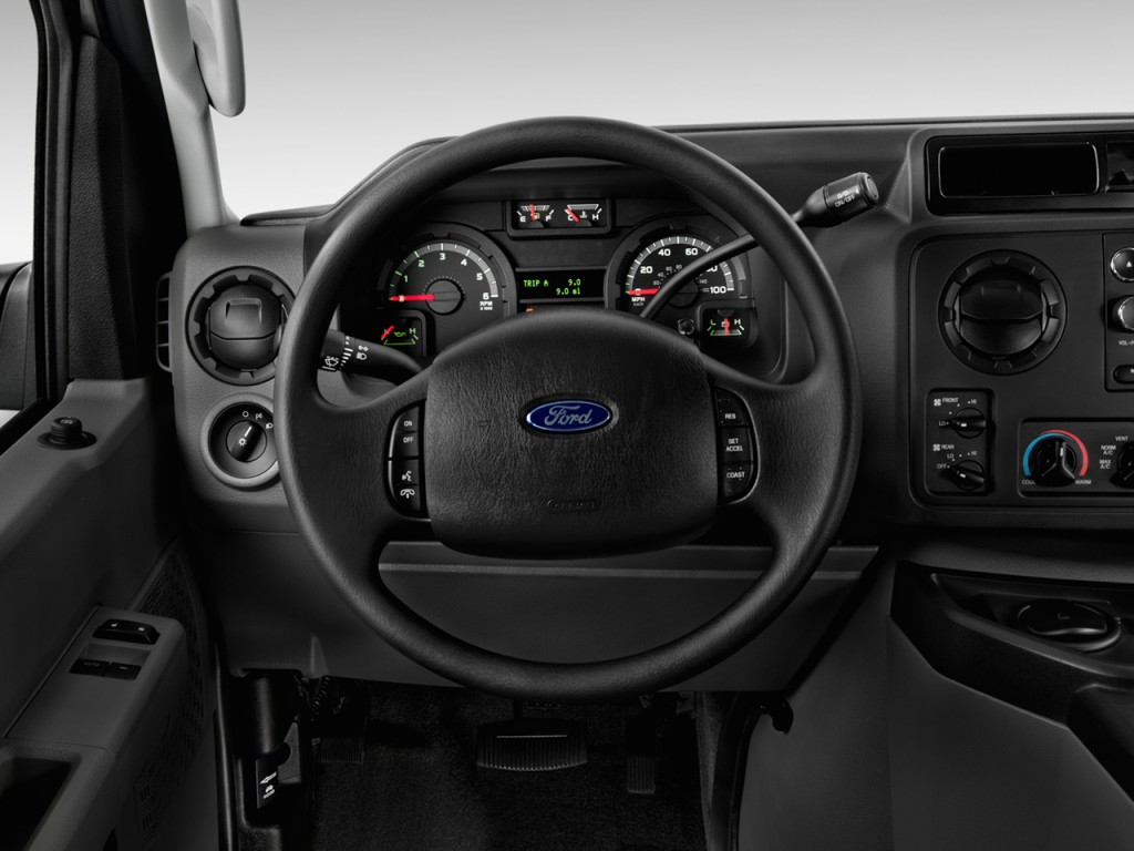 Image: 2012 Ford Econoline Wagon E-150 XLT Steering Wheel ...