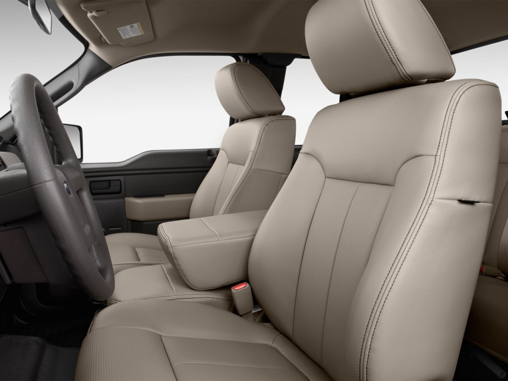 "Image: 2012 Ford F-150 2WD SuperCab 163"" XL Front Seats ..."