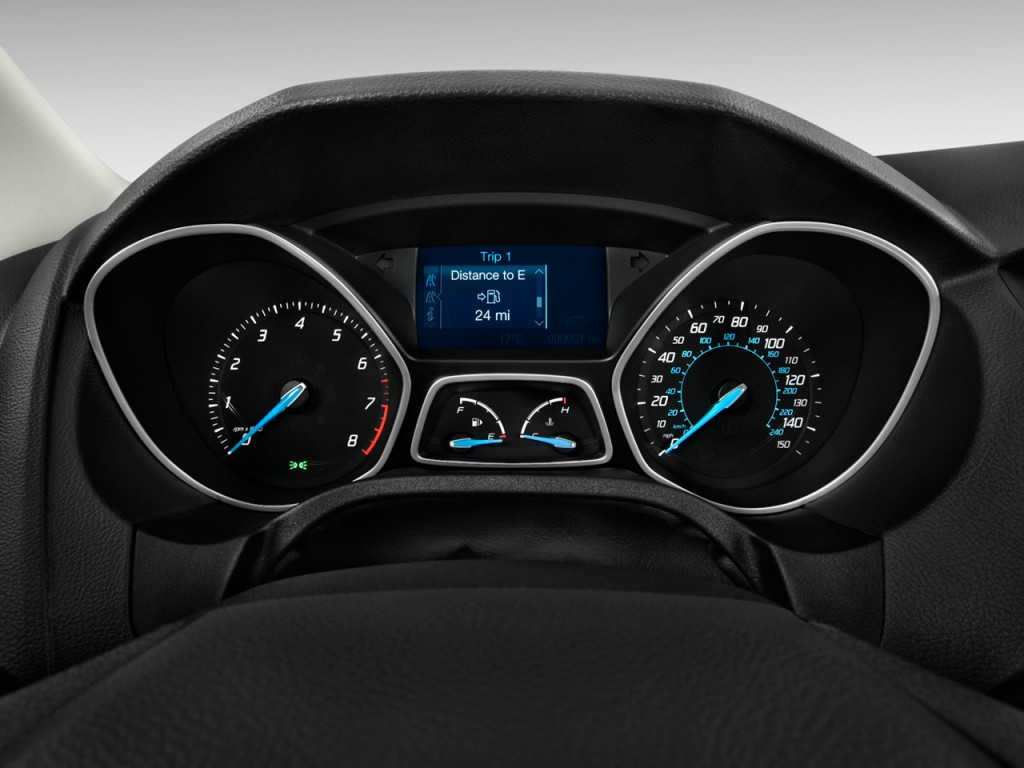 2012 Ford Escape Oil Type >> Image: 2012 Ford Focus 5dr HB SE Instrument Cluster, size ...