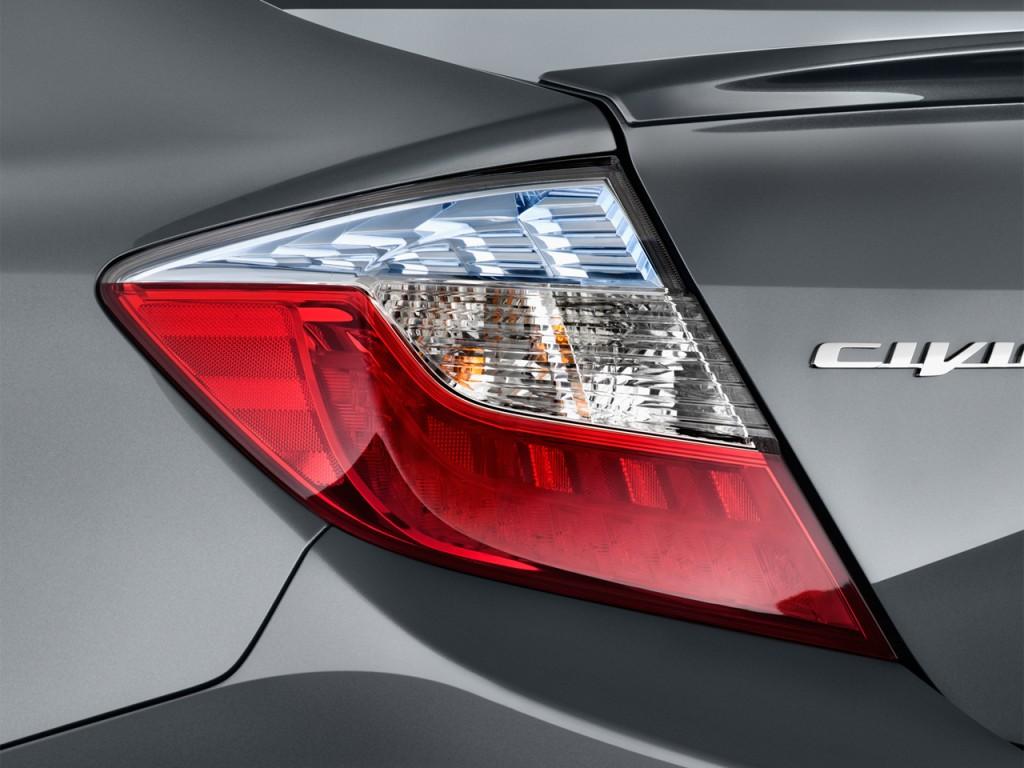 Image: 2012 Honda Civic Hybrid 4-door Sedan L4 CVT Tail ...