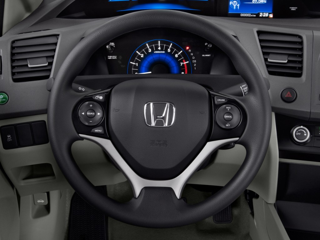 image 2012 honda civic sedan 4 door auto lx steering. Black Bedroom Furniture Sets. Home Design Ideas