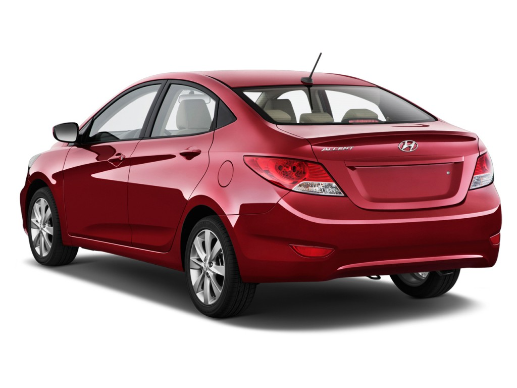 Image 2012 Hyundai Accent 4 Door Sedan Auto Gls Angular