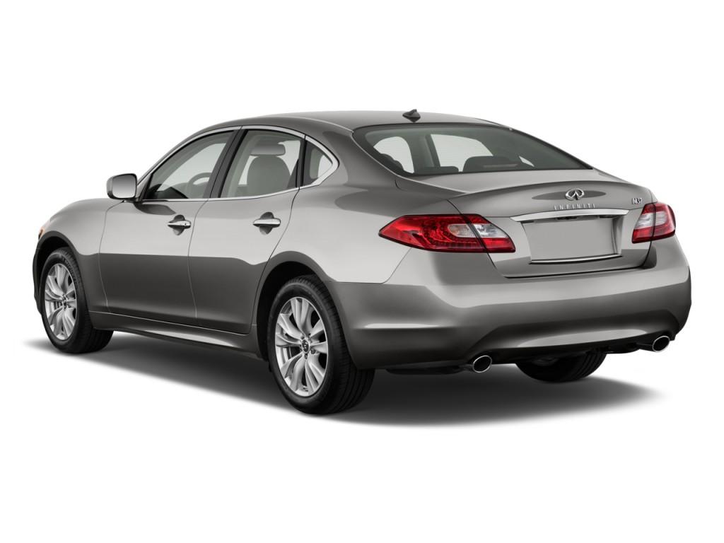 2012 infiniti m37 4 door sedan awd angular rear exterior view