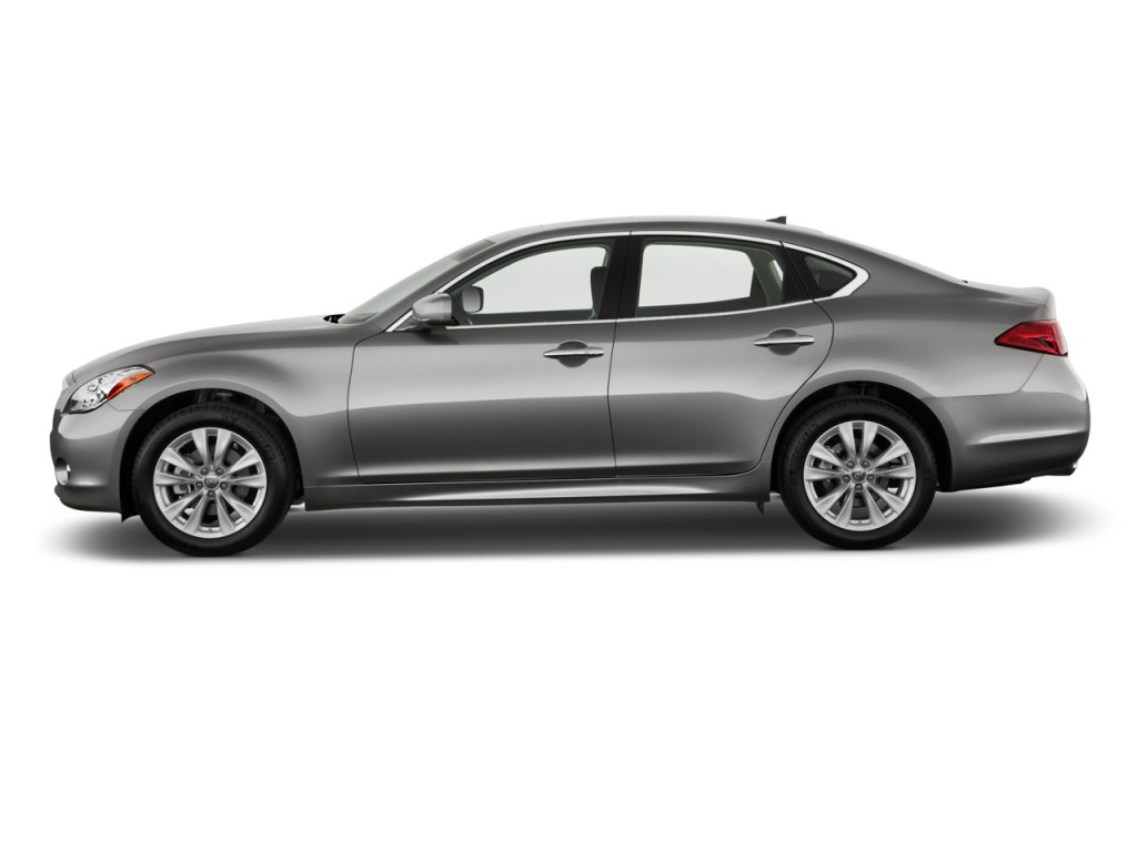 Elegant 2012 Infiniti M37 4 Door Sedan AWD Side Exterior View Design Inspirations