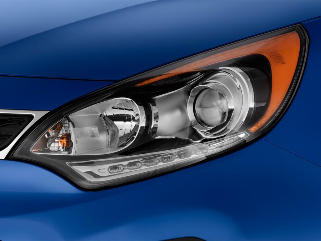 Image: 2012 Kia Rio 5dr HB Auto SX Headlight, size: 1024 x ...