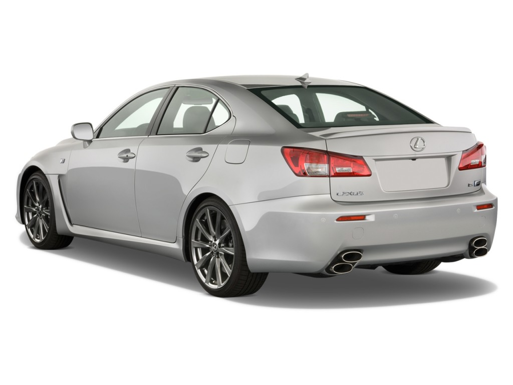 image 2012 lexus is f 4 door sedan angular rear exterior. Black Bedroom Furniture Sets. Home Design Ideas