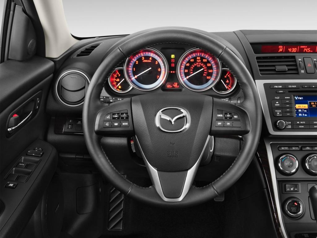 image 2012 mazda mazda6 4 door sedan auto i grand touring steering wheel size 1024 x 768. Black Bedroom Furniture Sets. Home Design Ideas