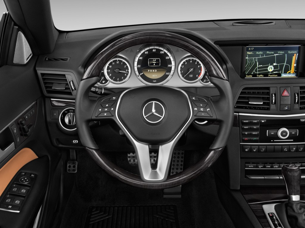 Used Mercedes E350 >> Image: 2012 Mercedes-Benz E Class 2-door Cabriolet 3.5L RWD Steering Wheel, size: 1024 x 768 ...