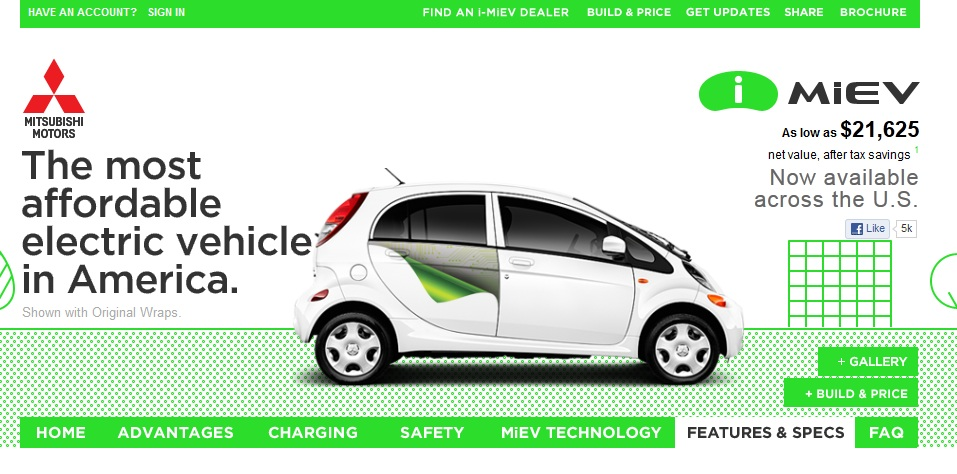 Image Mitsubishi I Electric Car Net Pricing Shown On