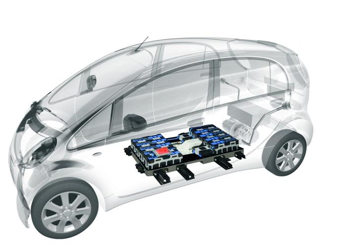 Image: 2012 Mitsubishi i electric car layout, size: 708 x ...