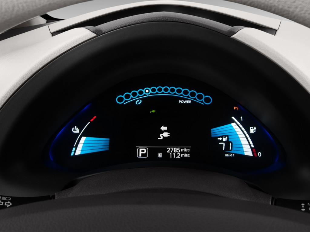 Image 2012 Nissan Leaf 4 Door Hb Sl Instrument Cluster