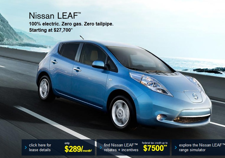 2017 Nissan Leaf Electric Car Net Pricing Shown On Website