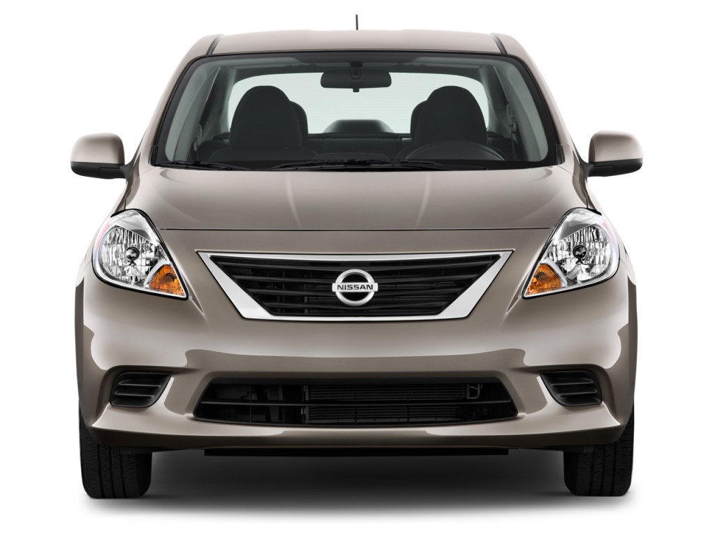 image 2012 nissan versa 4 door sedan cvt 1 6 sv front exterior view size 1024 x 768 type. Black Bedroom Furniture Sets. Home Design Ideas