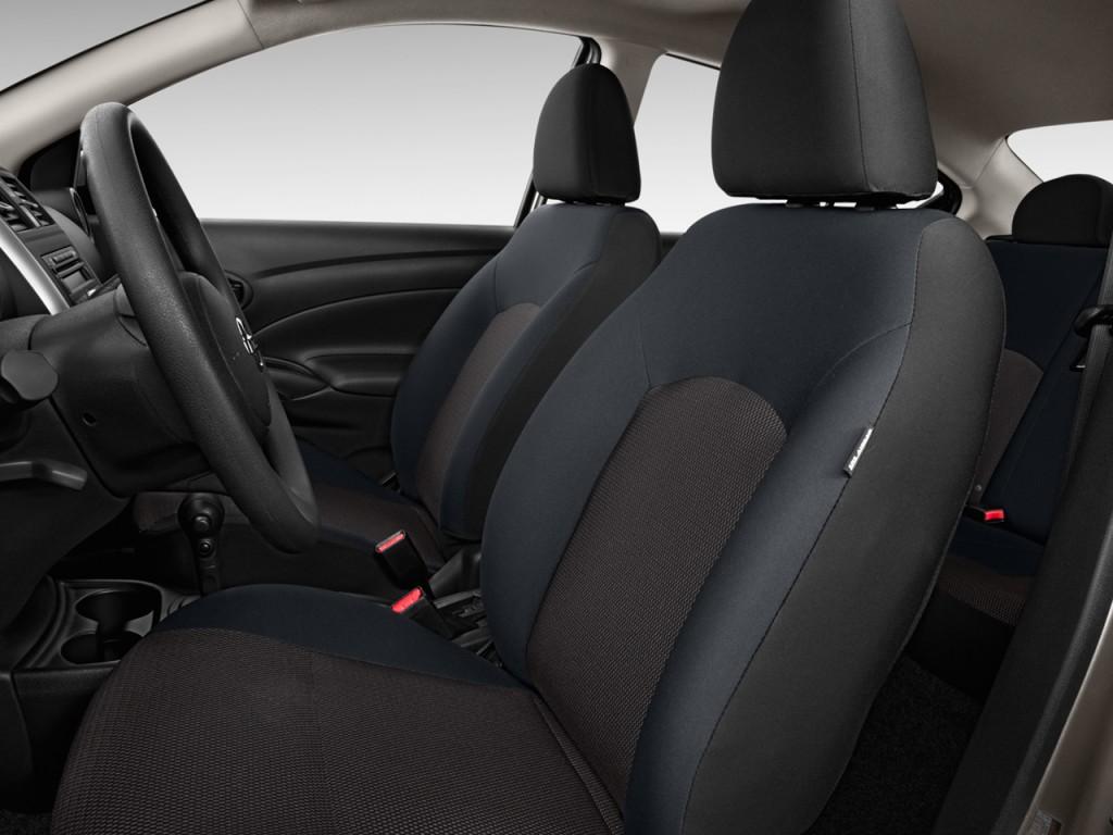 Image: 2012 Nissan Versa 4-door Sedan CVT 1.6 SV Front Seats, size