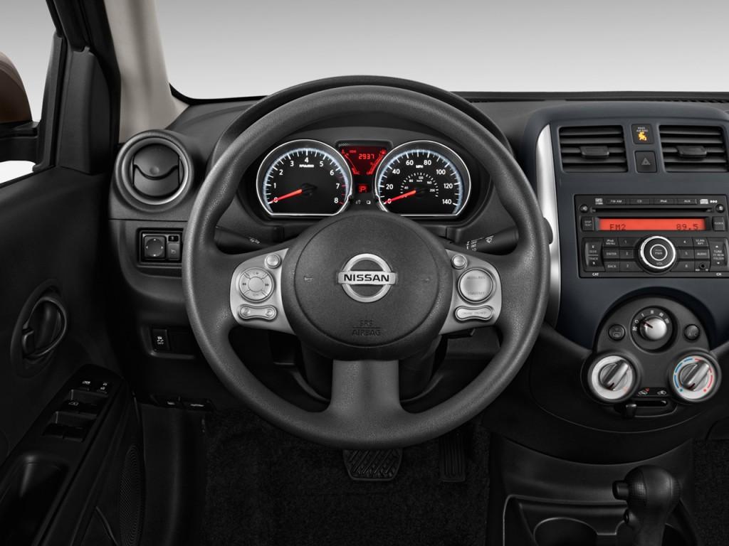 image 2012 nissan versa 4 door sedan cvt 1 6 sv steering wheel size 1024 x 768 type gif. Black Bedroom Furniture Sets. Home Design Ideas