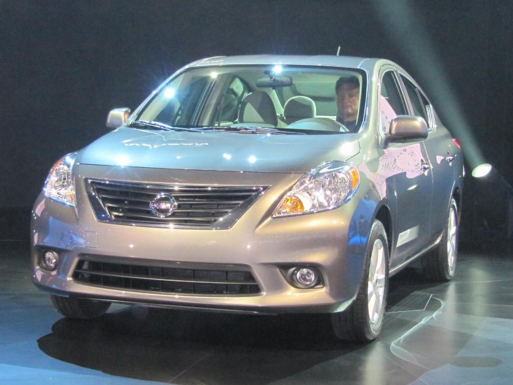 2012 Nissan Versa sedan launch, New York Auto Show, April 2011